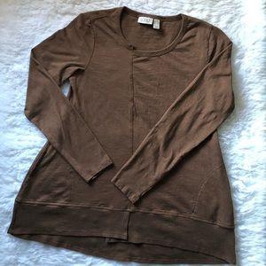 LOGO | Ribbed Hem Tunic with Pockets